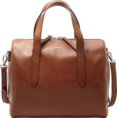 Fossil Sydney Satchel Brown - Fossil Leather Handbags