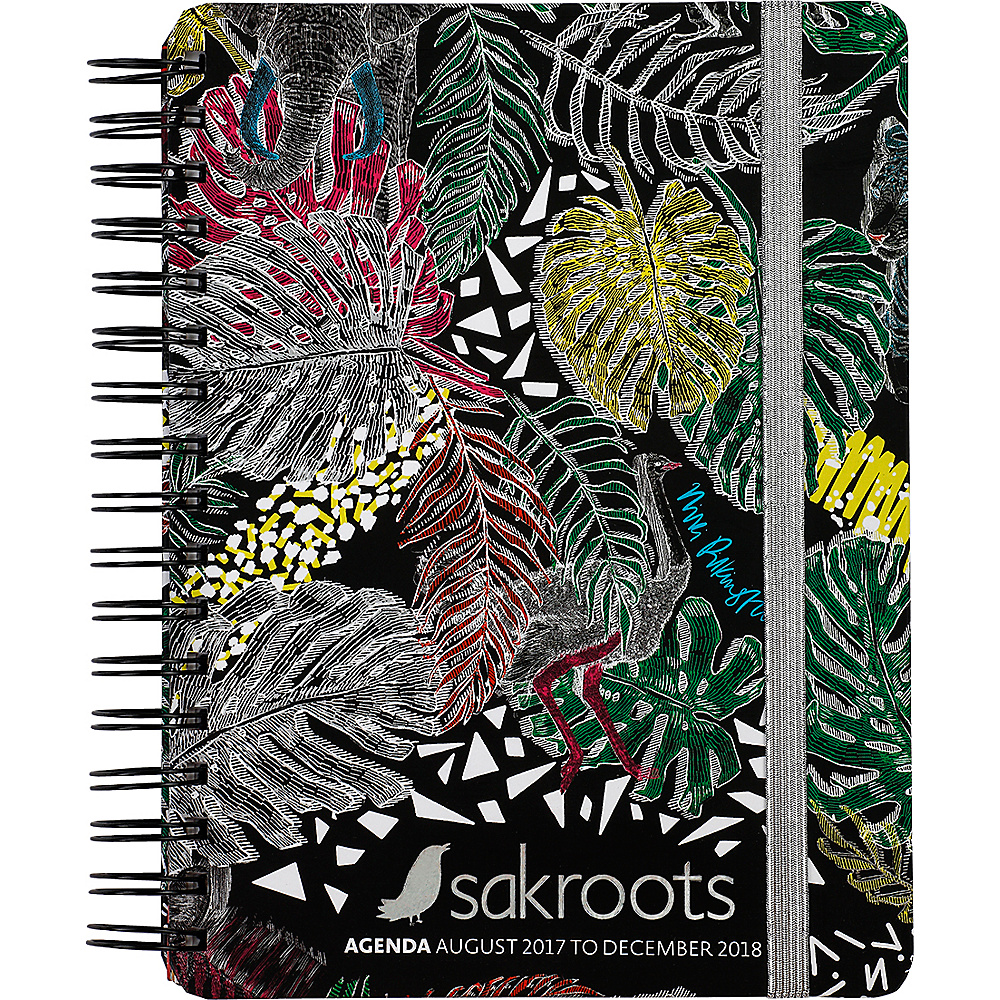 Sakroots Artist Circle Daily Agenda Planner Black Wild Life - Sakroots Business Accessories - Work Bags & Briefcases, Business Accessories