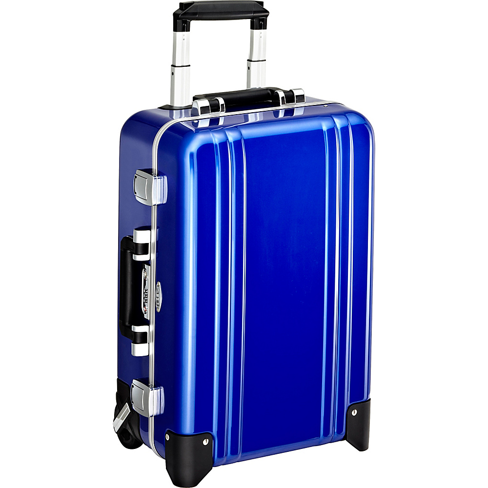 Zero Halliburton Classic Polycarbonate Carry On 2 Wheel Travel Case Blue Zero Halliburton Hardside Carry On