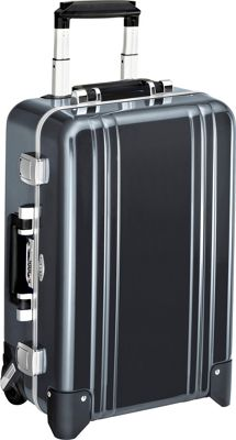 Zero Halliburton Classic Polycarbonate Carry On 2 Wheel Travel Case Gun Metal