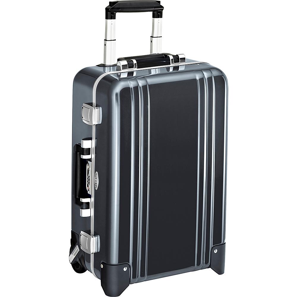 Zero Halliburton Classic Polycarbonate Carry On 2 Wheel Travel Case Gun Metal GM Zero Halliburton Hardside Carry On