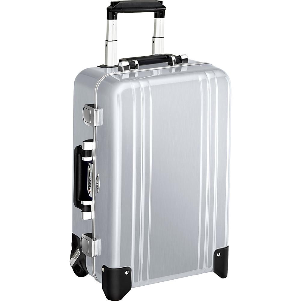 Zero Halliburton Classic Polycarbonate Carry On 2 Wheel Travel Case Silver Zero Halliburton Hardside Carry On