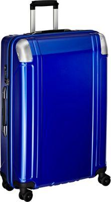 Zero Halliburton Geo Polycarbonate 28 inch 4 Wheel Spinner Travel Case Blue - Zero Halliburton Hardside Checked