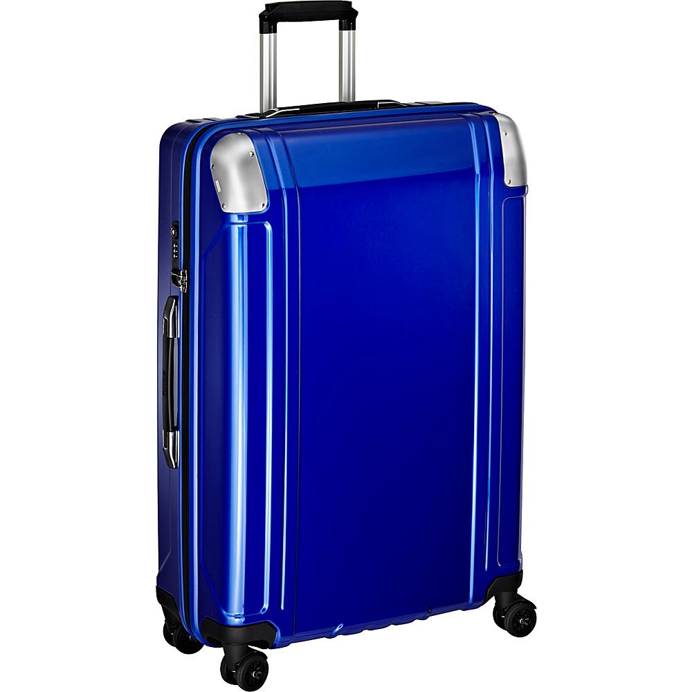 Zero Halliburton Geo Polycarbonate 28 4 Wheel Spinner Travel Case Blue Zero Halliburton Hardside Checked