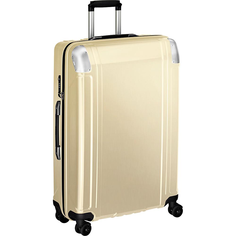 Zero Halliburton Geo Polycarbonate 28 4 Wheel Spinner Travel Case Polished Gold PG Zero Halliburton Hardside Checked