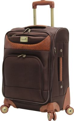Caribbean Joe Castaway 20 inch Exp. Spinner Brown - Caribbean Joe Softside Carry-On