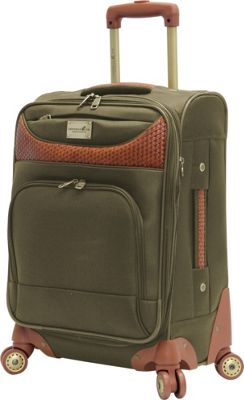 Caribbean Joe Castaway 20 inch Exp. Spinner Olive - Caribbean Joe Softside Carry-On