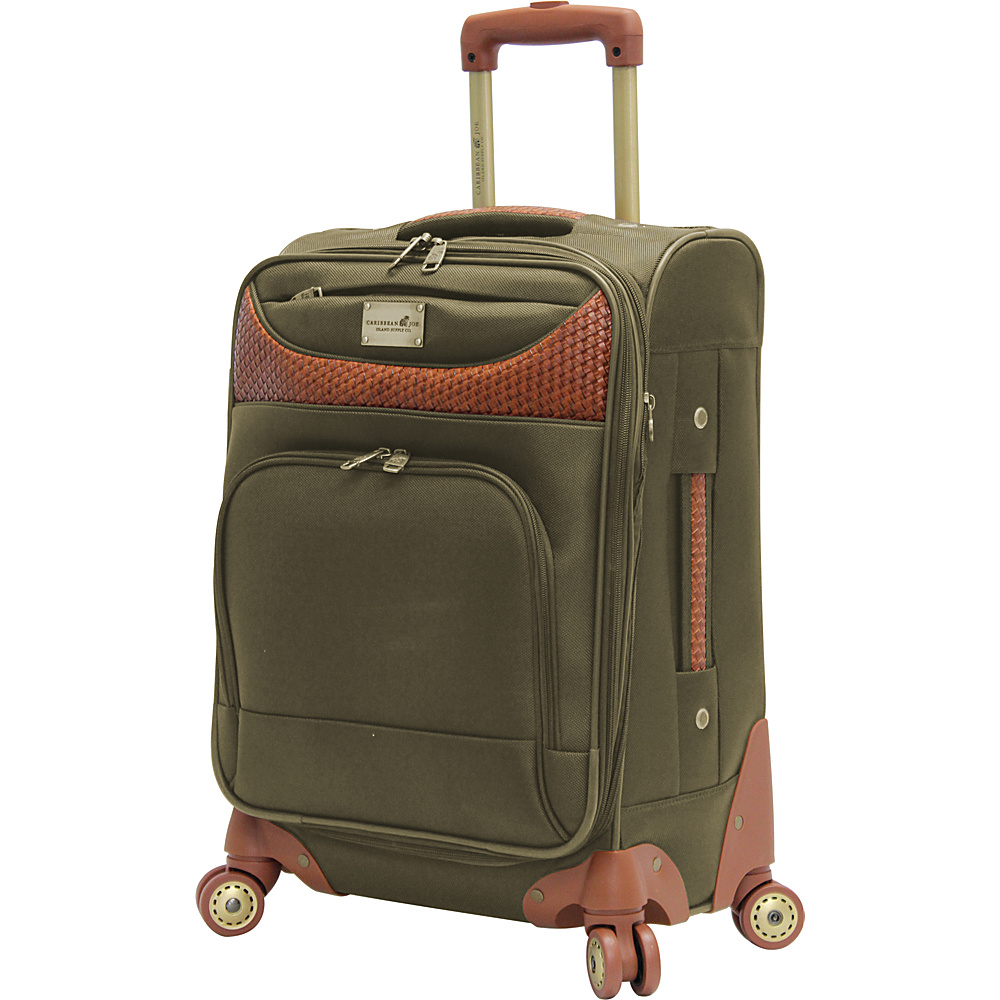 "Caribbean Joe Castaway 20"" Exp. Spinner Olive - Caribbean Joe Softside Carry-On"