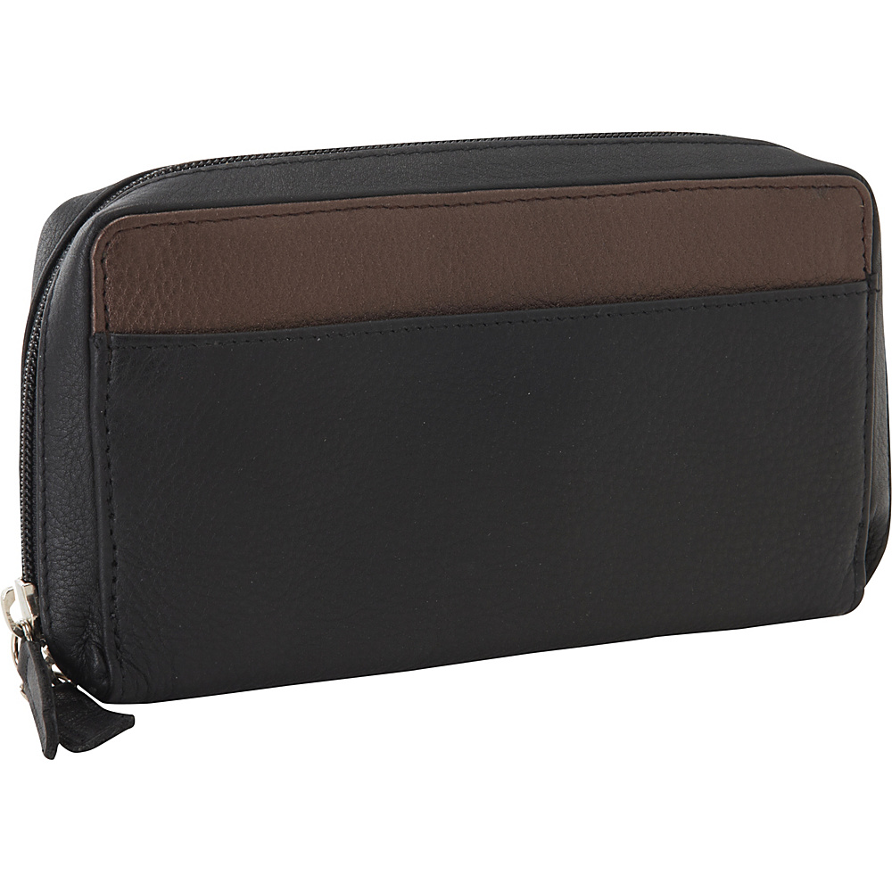 Derek Alexander Large Full Zip Organizer Clutch Wallet Black/Bronze - Derek Alexander Womens Wallets - Women's SLG, Women's Wallets