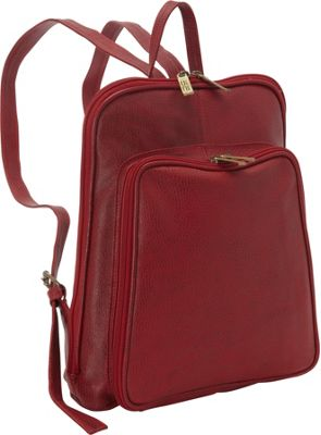 ClaireChase Tablet Backpack Red - ClaireChase Leather Handbags
