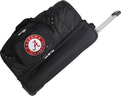 Denco Sports Luggage NCAA 27 inch Drop Bottom Wheeled Duffel Bag University of Alabama Crimson Tide - Denco Sports Luggage Travel Duffels