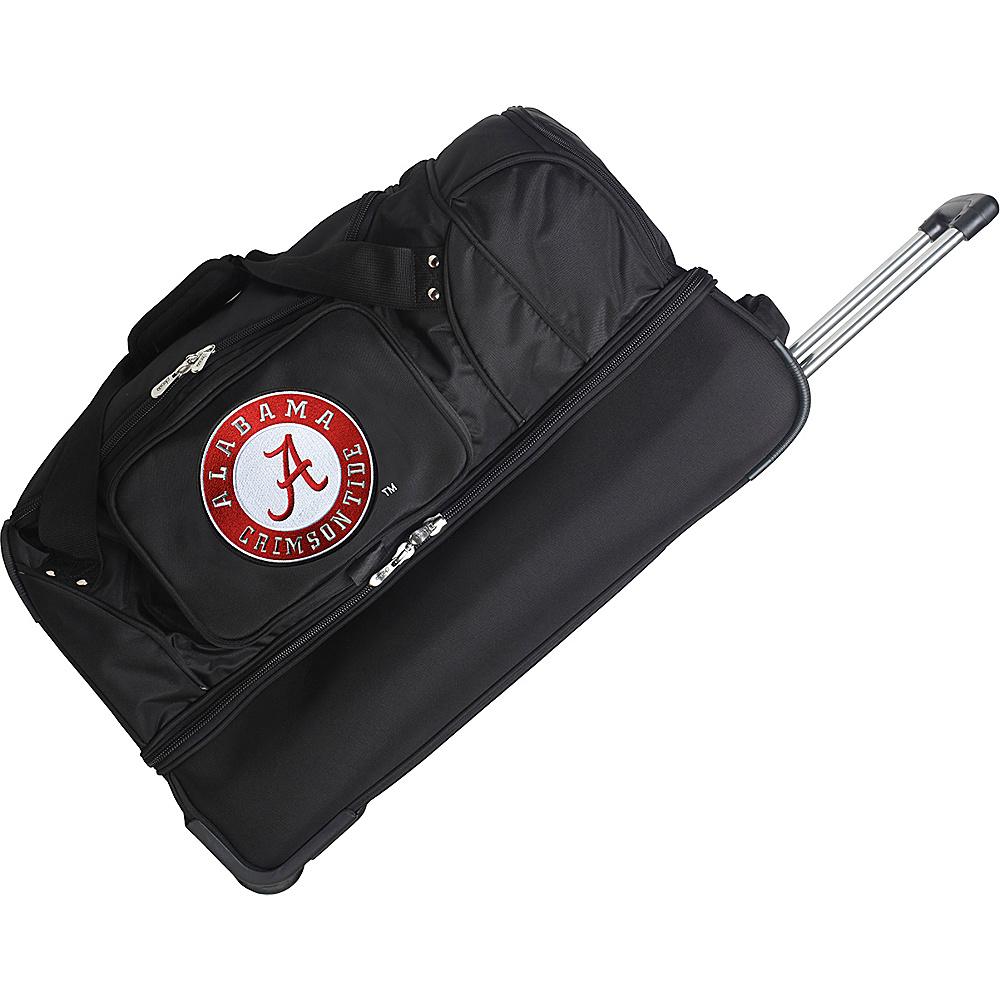 Denco Sports Luggage NCAA 27 Drop Bottom Wheeled Duffel Bag University of Alabama Crimson Tide - Denco Sports Luggage Travel Duffels - Duffels, Travel Duffels
