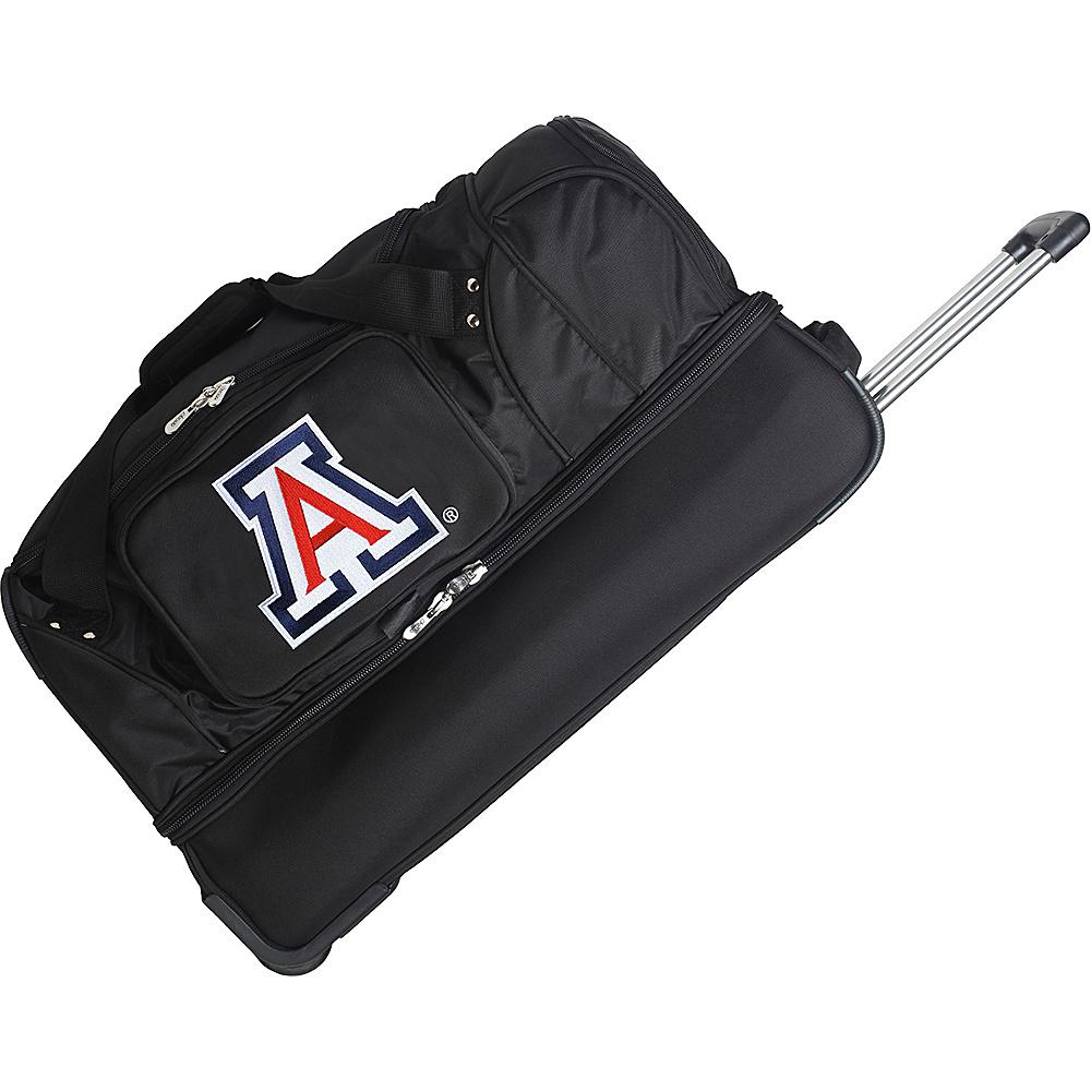 Denco Sports Luggage NCAA 27 Drop Bottom Wheeled Duffel Bag University of Arizona Wildcats - Denco Sports Luggage Travel Duffels - Duffels, Travel Duffels