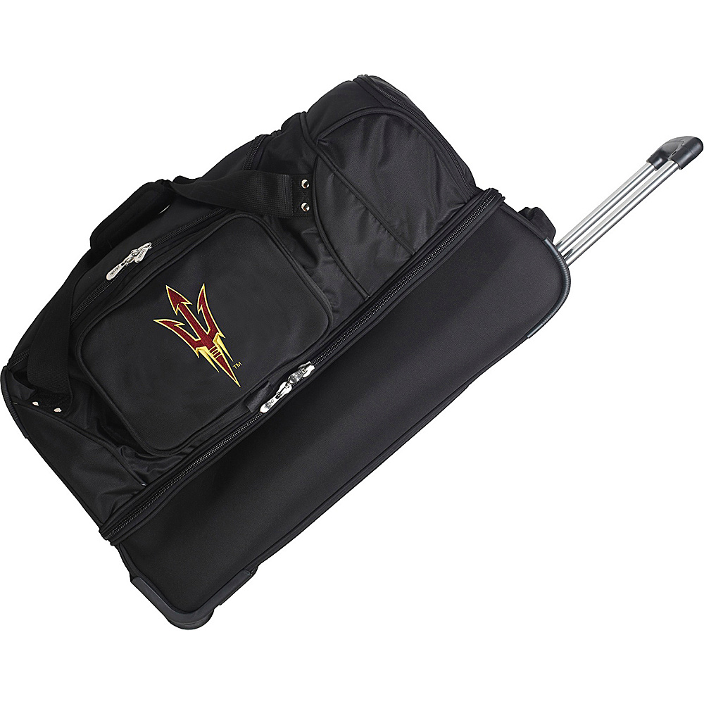 Denco Sports Luggage NCAA 27 Drop Bottom Wheeled Duffel Bag Arizona State University Sun Devils - Denco Sports Luggage Travel Duffels - Duffels, Travel Duffels