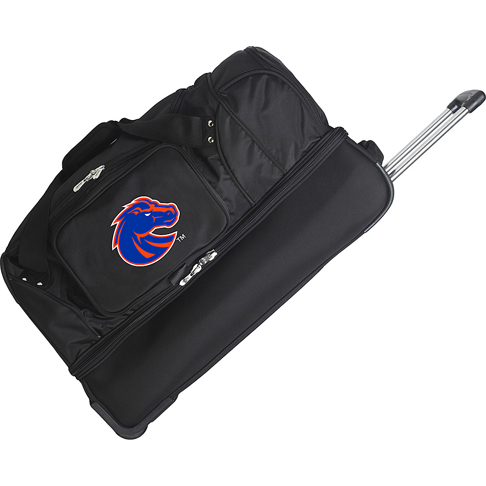 Denco Sports Luggage NCAA 27 Drop Bottom Wheeled Duffel Bag Boise State University Broncos - Denco Sports Luggage Travel Duffels - Duffels, Travel Duffels