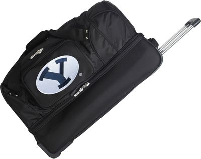 "Denco Sports Luggage NCAA 27"""" Drop Bottom Wheeled Duffel Bag Brigham Young University Cougars - Denco Sports Luggage Travel Duffels"
