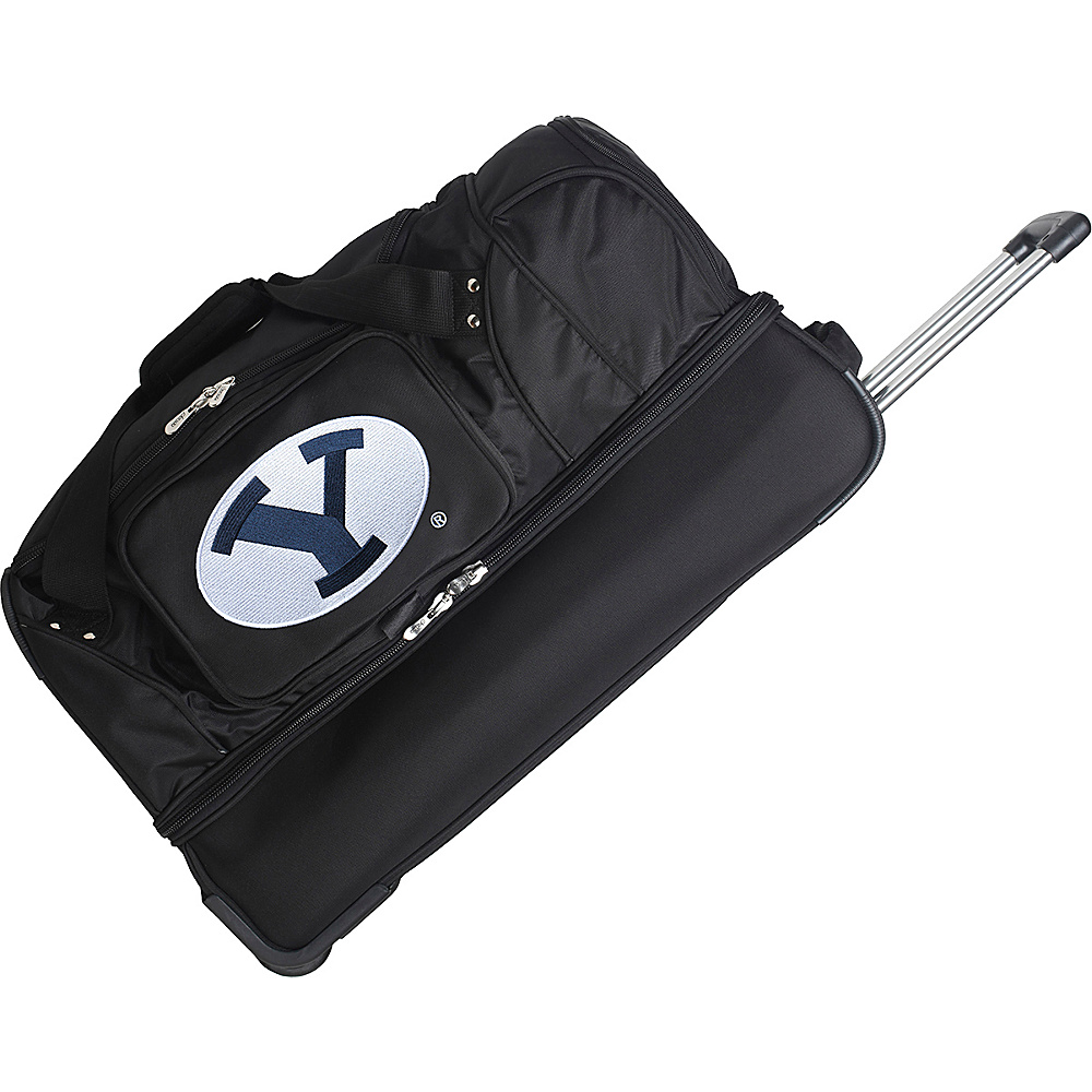 Denco Sports Luggage NCAA 27 Drop Bottom Wheeled Duffel Bag Brigham Young University Cougars - Denco Sports Luggage Travel Duffels - Duffels, Travel Duffels