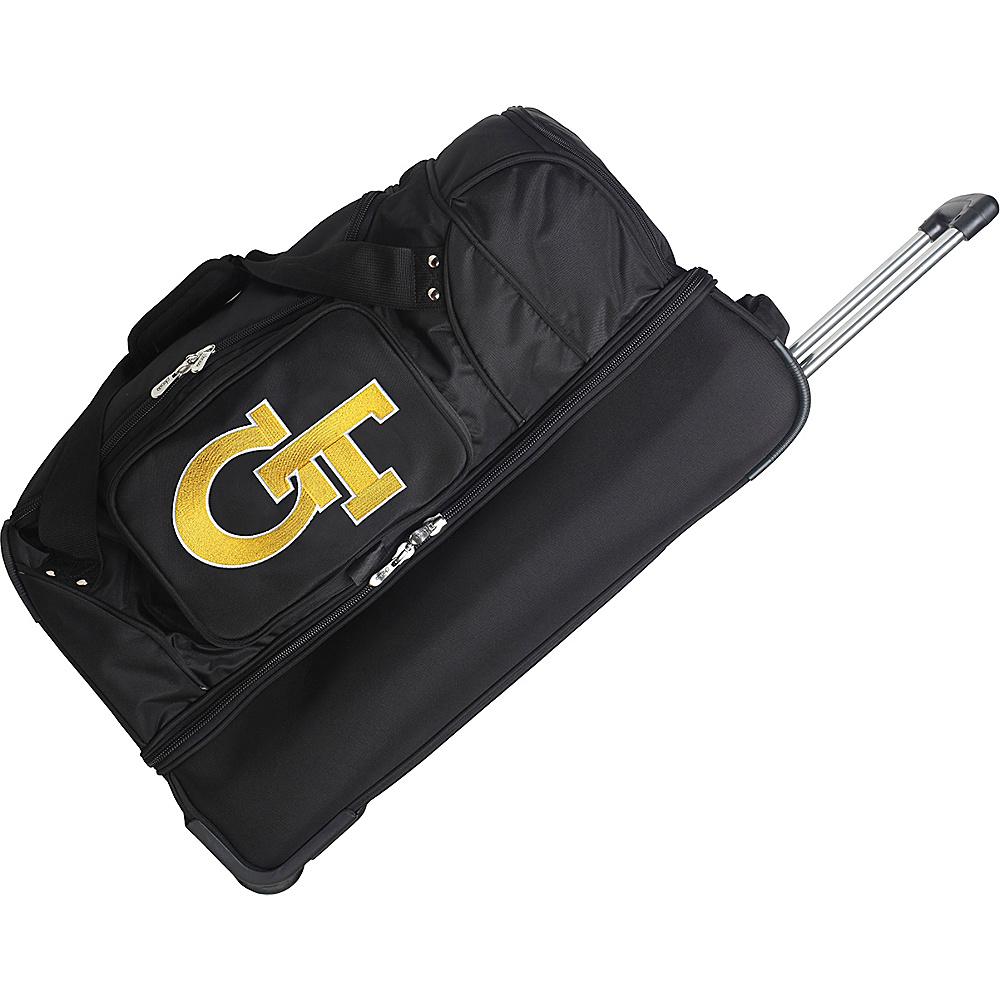 Denco Sports Luggage NCAA 27 Drop Bottom Wheeled Duffel Bag Georgia Institute of Technology Yellow Jackets - Denco Sports Luggage Travel Duffels - Duffels, Travel Duffels