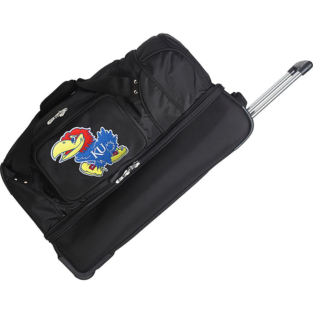 Denco Sports Luggage NCAA 27 Drop Bottom Wheeled Duffel Bag University of Kansas Jayhawks - Denco Sports Luggage Travel Duffels - Duffels, Travel Duffels