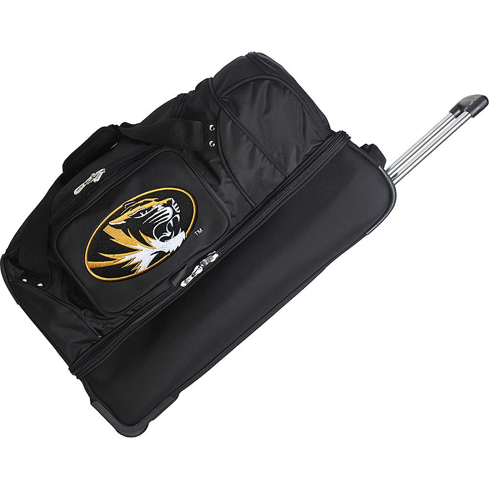 Denco Sports Luggage NCAA 27 Drop Bottom Wheeled Duffel Bag University of Missouri Tigers - Denco Sports Luggage Travel Duffels - Duffels, Travel Duffels