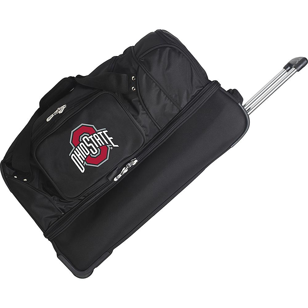 Denco Sports Luggage NCAA 27 Drop Bottom Wheeled Duffel Bag Ohio State University Buckeyes - Denco Sports Luggage Travel Duffels - Duffels, Travel Duffels