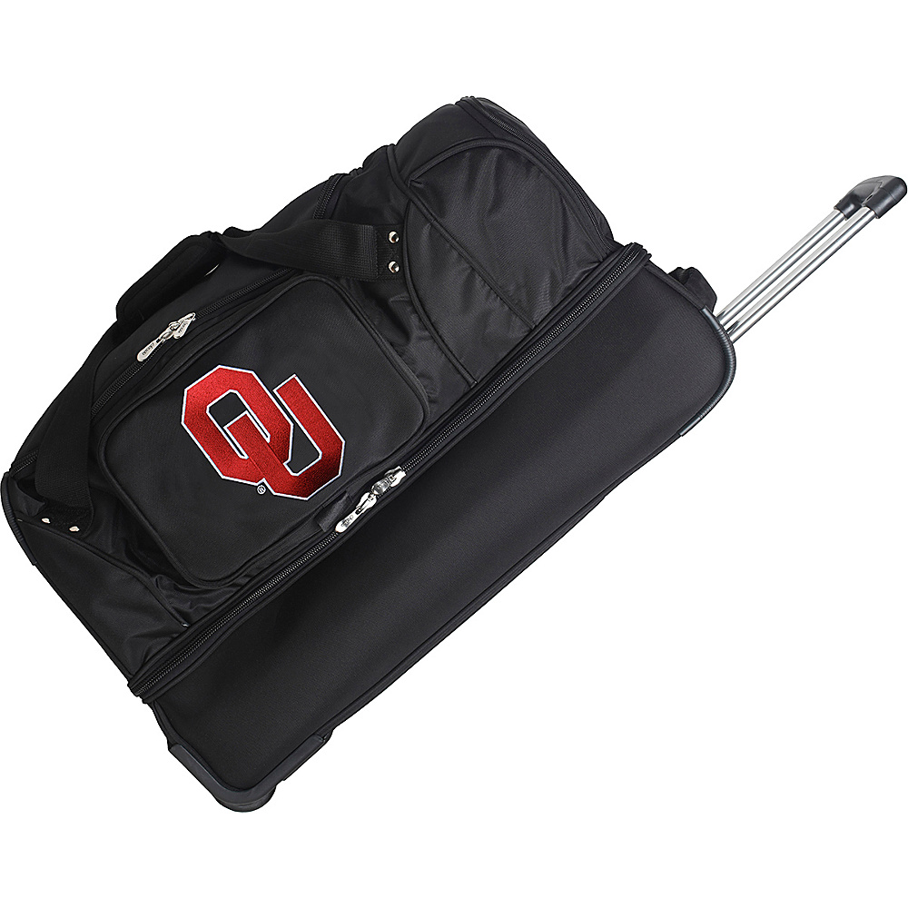 "Denco Sports Luggage NCAA 27"" Drop Bottom Wheeled Duffel Bag University of Oklahoma Sooners - Denco Sports Luggage Travel Duffels"