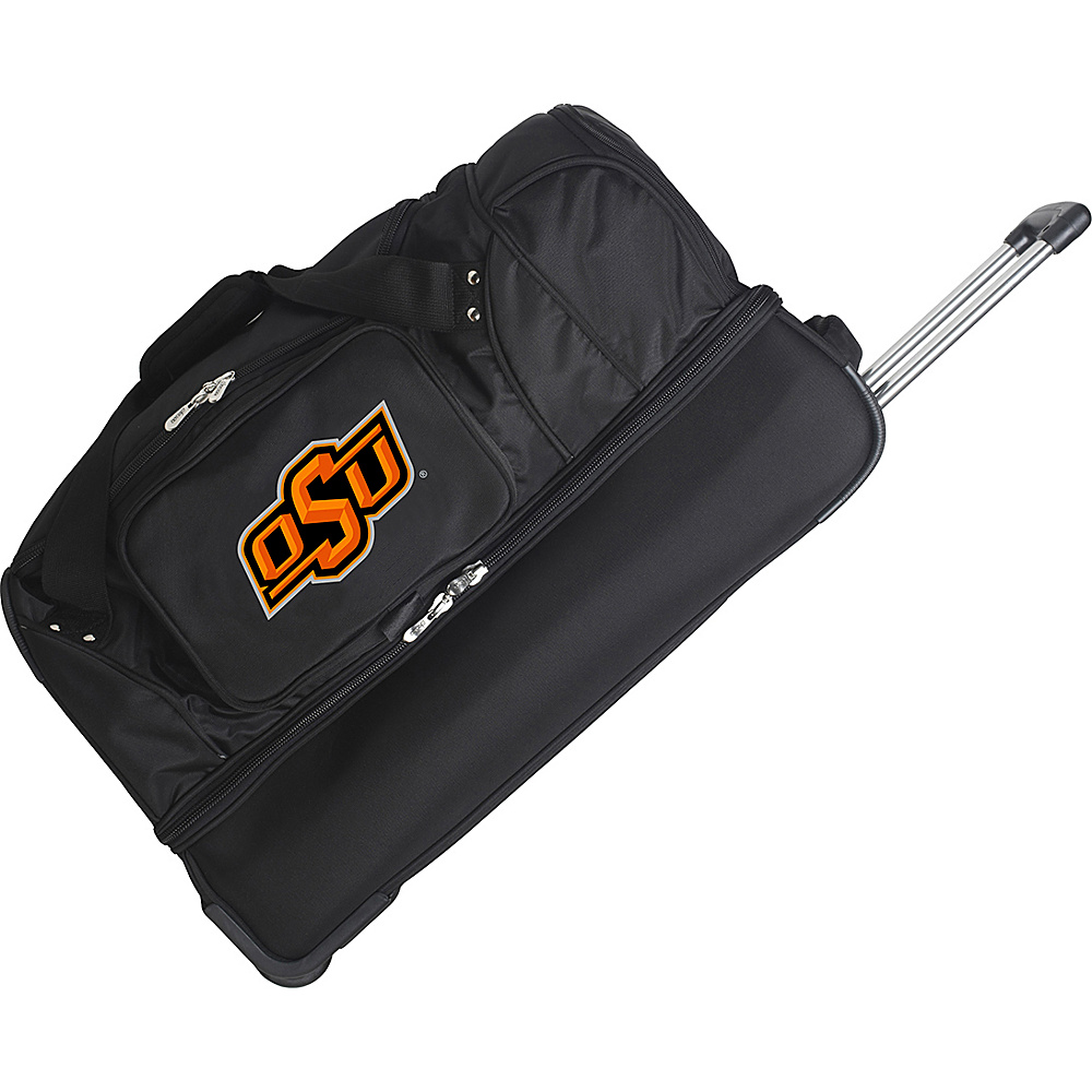 Denco Sports Luggage NCAA 27 Drop Bottom Wheeled Duffel Bag Oklahoma State University–Stillwater Cowboys - Denco Sports Luggage Travel Duffels - Duffels, Travel Duffels