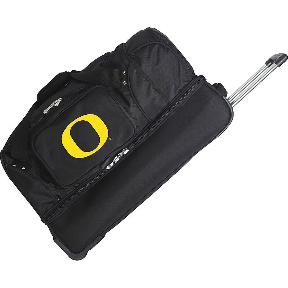 Denco Sports Luggage NCAA 27 Drop Bottom Wheeled Duffel Bag University of Oregon Ducks - Denco Sports Luggage Travel Duffels - Duffels, Travel Duffels
