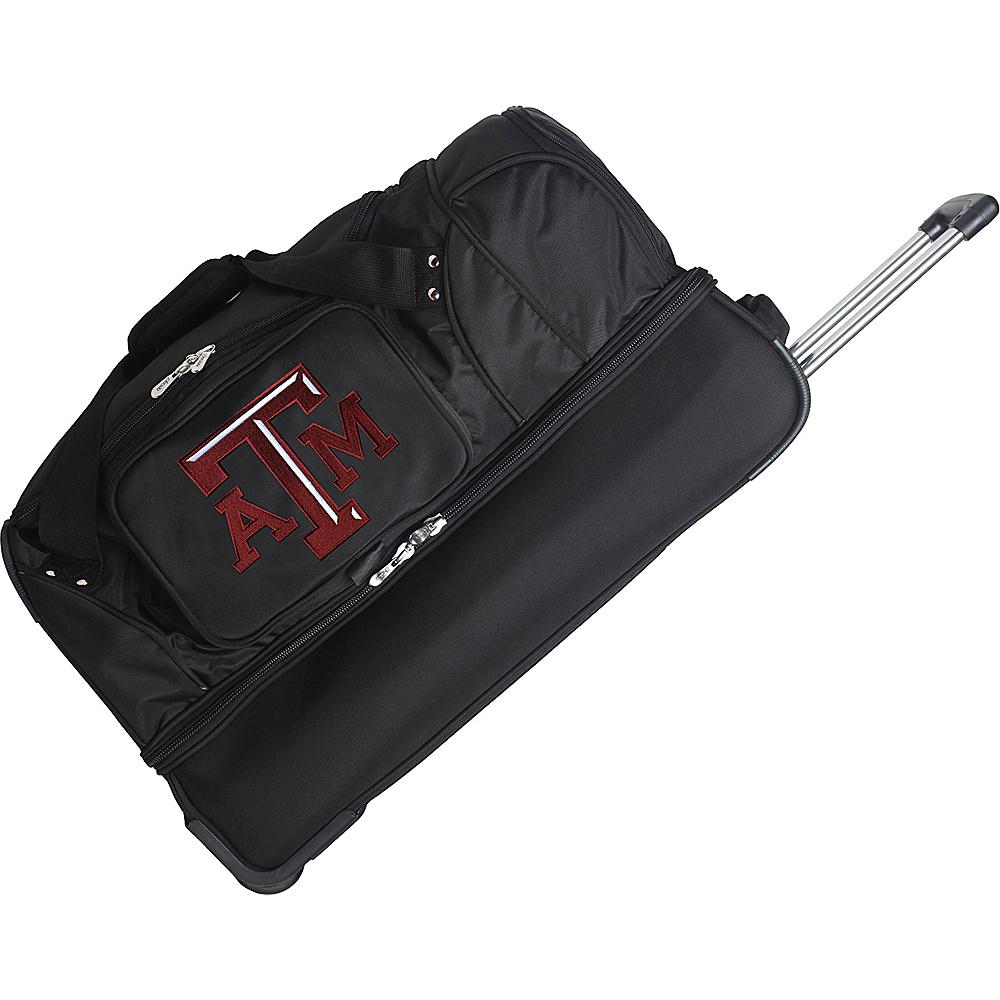 Denco Sports Luggage NCAA 27 Drop Bottom Wheeled Duffel Bag Texas A&M University Aggies - Denco Sports Luggage Travel Duffels - Duffels, Travel Duffels
