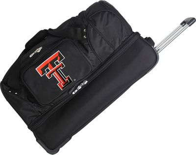 Denco Sports Luggage NCAA 27 inch Drop Bottom Wheeled Duffel Bag Texas Tech University Red Raiders - Denco Sports Luggage Travel Duffels