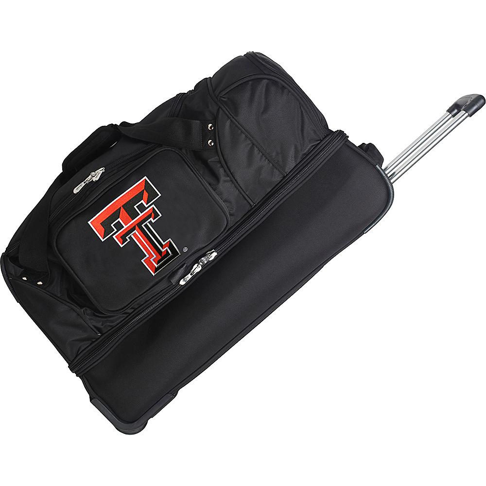 Denco Sports Luggage NCAA 27 Drop Bottom Wheeled Duffel Bag Texas Tech University Red Raiders - Denco Sports Luggage Travel Duffels - Duffels, Travel Duffels