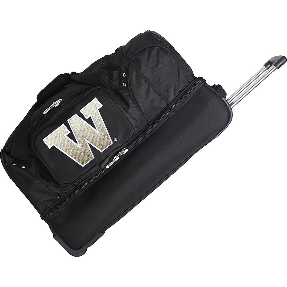 Denco Sports Luggage NCAA 27 Drop Bottom Wheeled Duffel Bag University of Washington Huskies - Denco Sports Luggage Travel Duffels - Duffels, Travel Duffels