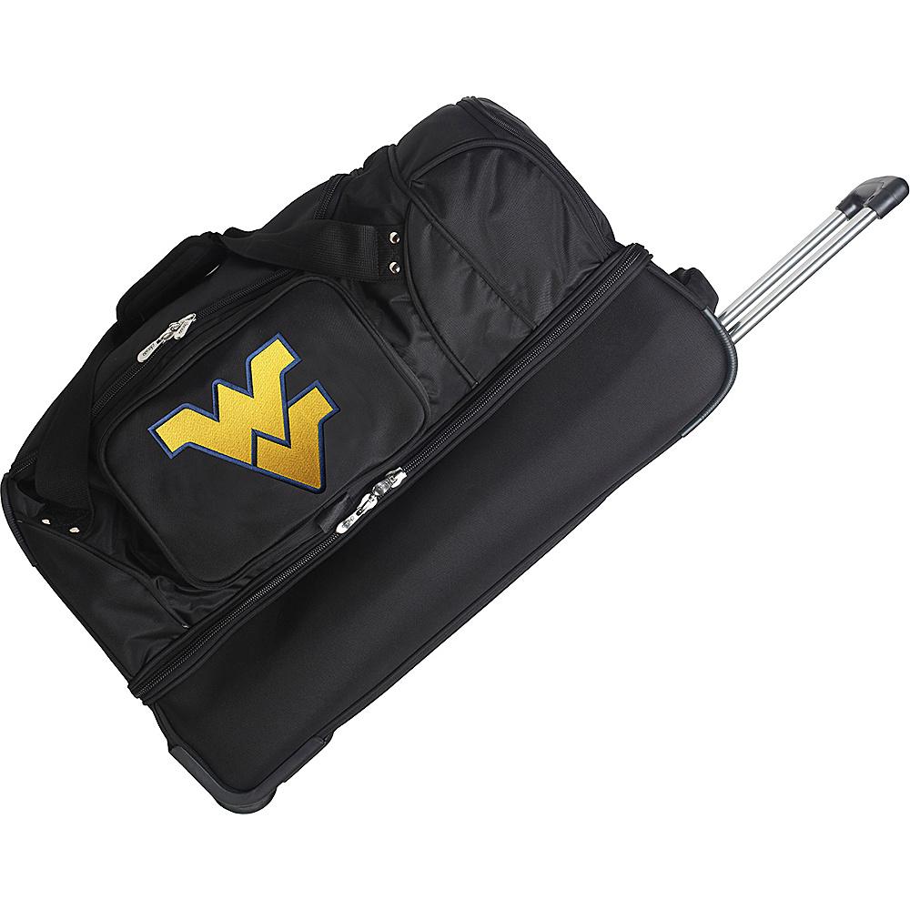 Denco Sports Luggage NCAA 27 Drop Bottom Wheeled Duffel Bag West Virginia University Mountaineers - Denco Sports Luggage Travel Duffels - Duffels, Travel Duffels