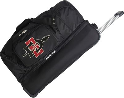 Denco Sports Luggage NCAA 27 inch Drop Bottom Wheeled Duffel Bag San Diego State University Aztecs - Denco Sports Luggage Travel Duffels