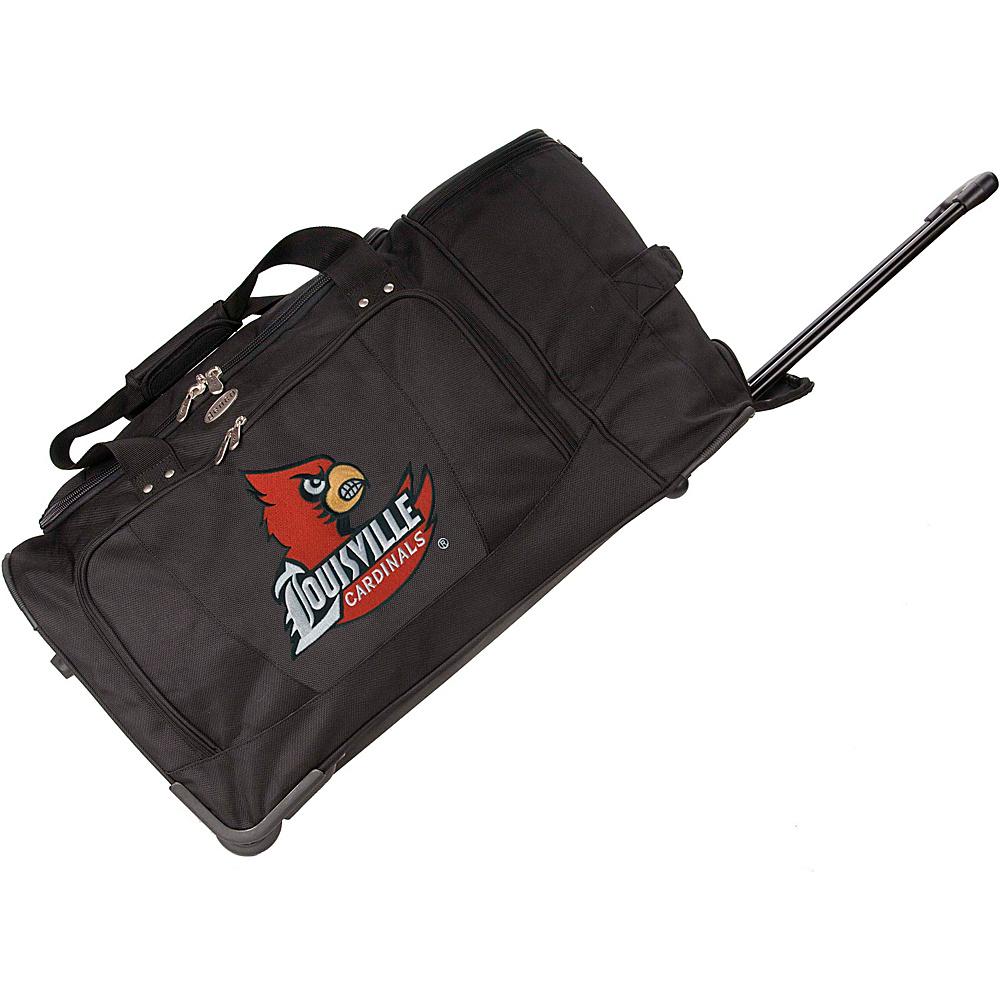 Denco Sports Luggage NCAA 27 Drop Bottom Wheeled Duffel Bag Black - Denco Sports Luggage Travel Duffels - Duffels, Travel Duffels