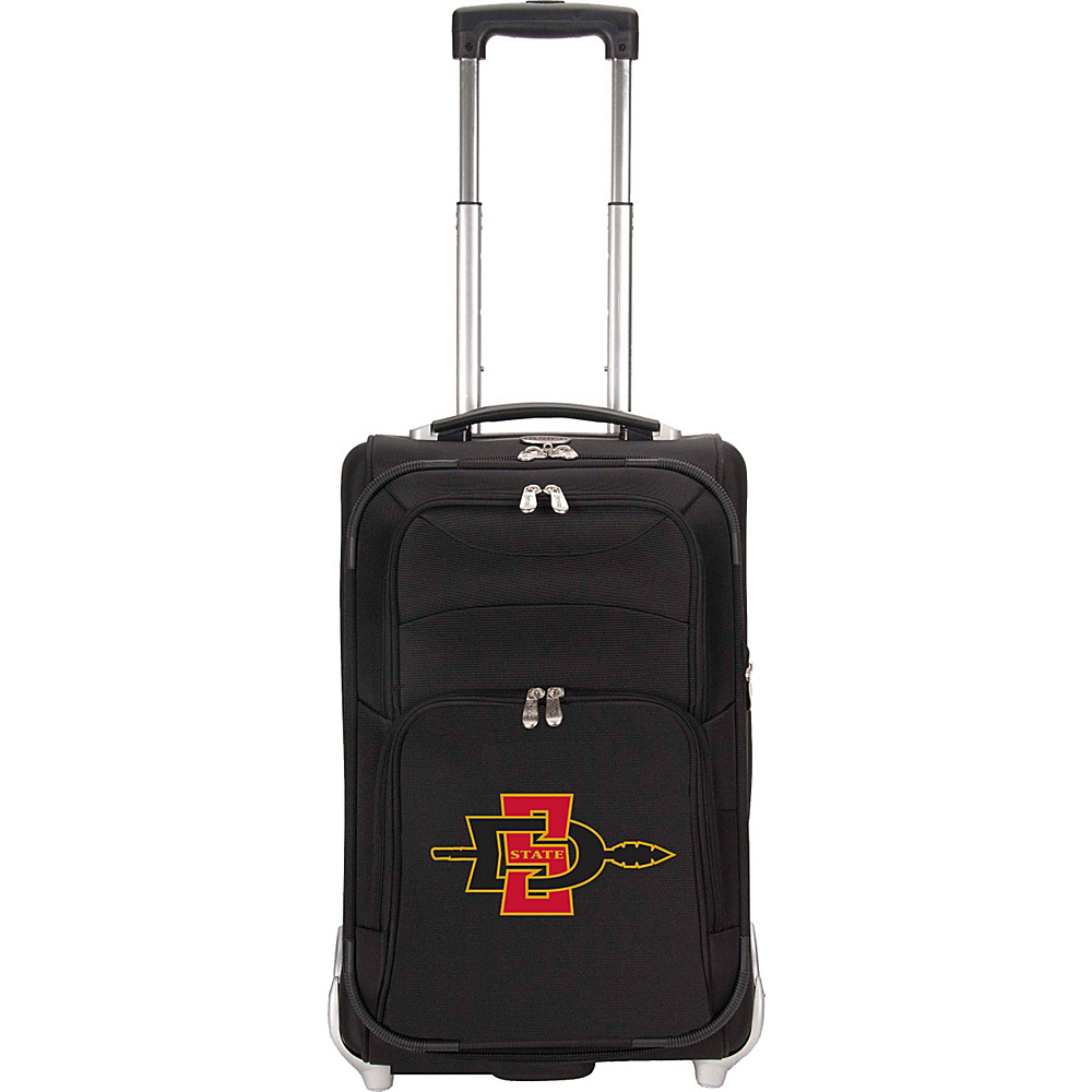 Denco Sports Luggage NCAA San Diego State University Aztecs 21 Upright Exp Wheeled Carry-on Black - Denco Sports Luggage Small Rolling Luggage - Luggage, Small Rolling Luggage