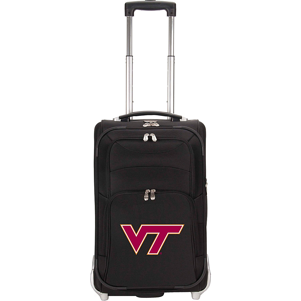 Denco Sports Luggage NCAA Virginia Tech University Hokies 21 Upright Exp Wheeled Carry-on Black - Denco Sports Luggage Small Rolling Luggage - Luggage, Small Rolling Luggage
