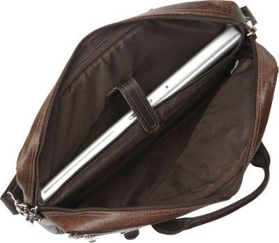 Piel Vintage Leather Laptop Business Case Vintage Brown - Piel Non-Wheeled Business Cases