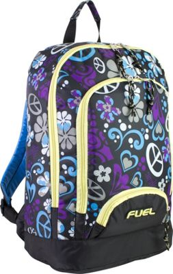 Fuel Fuel Triple Pocket Backpack Purple Hearts - Fuel Everyday Backpacks