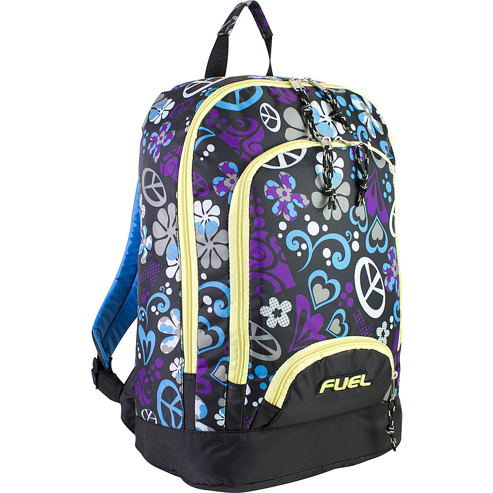 Fuel Triple Pocket Backpack Purple Hearts Fuel Everyday Backpacks