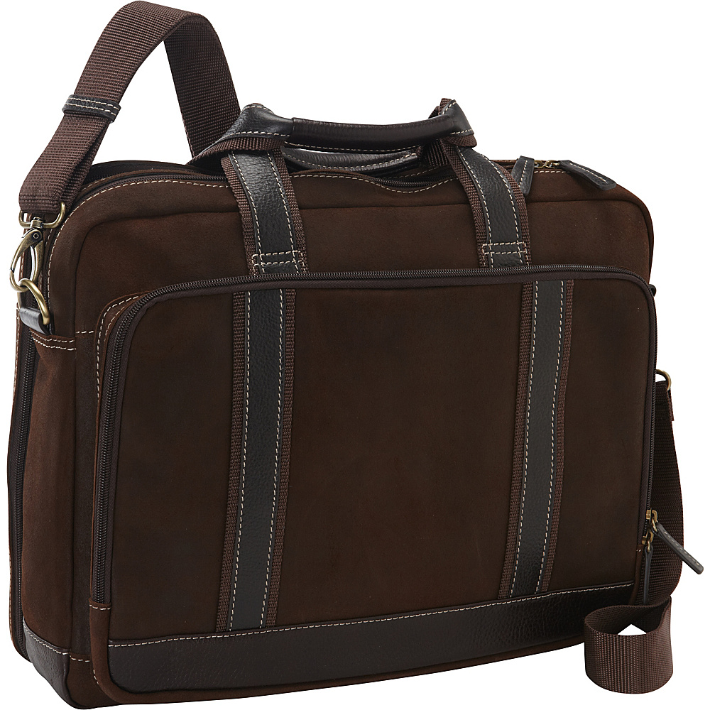 Bellino The Outback Compucase - Checkpoint Friendly Brown - Bellino Non-Wheeled Computer Cases
