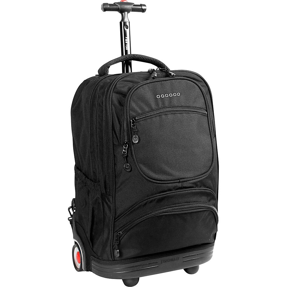 J World New York Sunburst Rolling Laptop Backpack Black - J World New York Rolling Backpacks - Backpacks, Rolling Backpacks