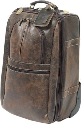 ClaireChase Expandable 21 inch Pullman Upright Distressed Brown - ClaireChase Softside Carry-On