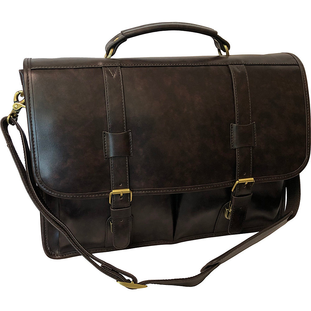 AmeriLeather Heritage Laptop Briefcase Dark Brown - AmeriLeather Non-Wheeled Business Cases