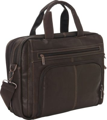 Kenneth Cole Reaction Colombian Leather Laptop Portfolio - EXCLUSIVE Brown - Kenneth Cole Reaction Non-Wheeled Business Cases