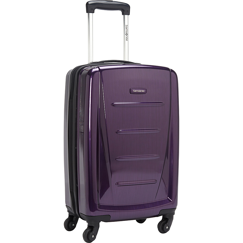 Samsonite Winfield 2 Fashion 20 Carry On Hardside Spinner Luggage Purple Samsonite Hardside Carry On