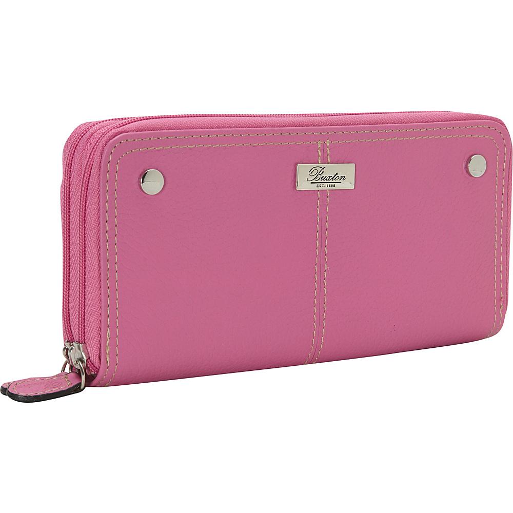 Buxton Slim Double Zip Dragon Lily - Buxton Womens Wallets - Women's SLG, Women's Wallets