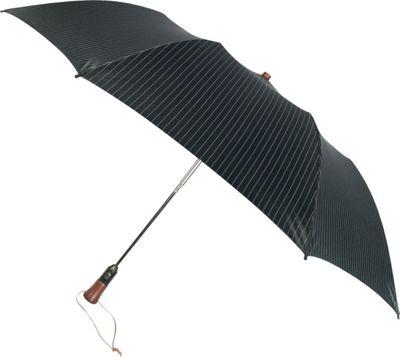 Leighton Umbrellas Magnum black with grey stripes - Leighton Umbrellas Umbrellas and Rain Gear