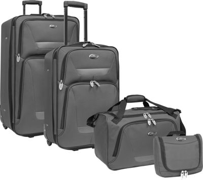 U.S. Traveler Westport 4-Piece Luggage Set Gray - U.S. Traveler Luggage Sets