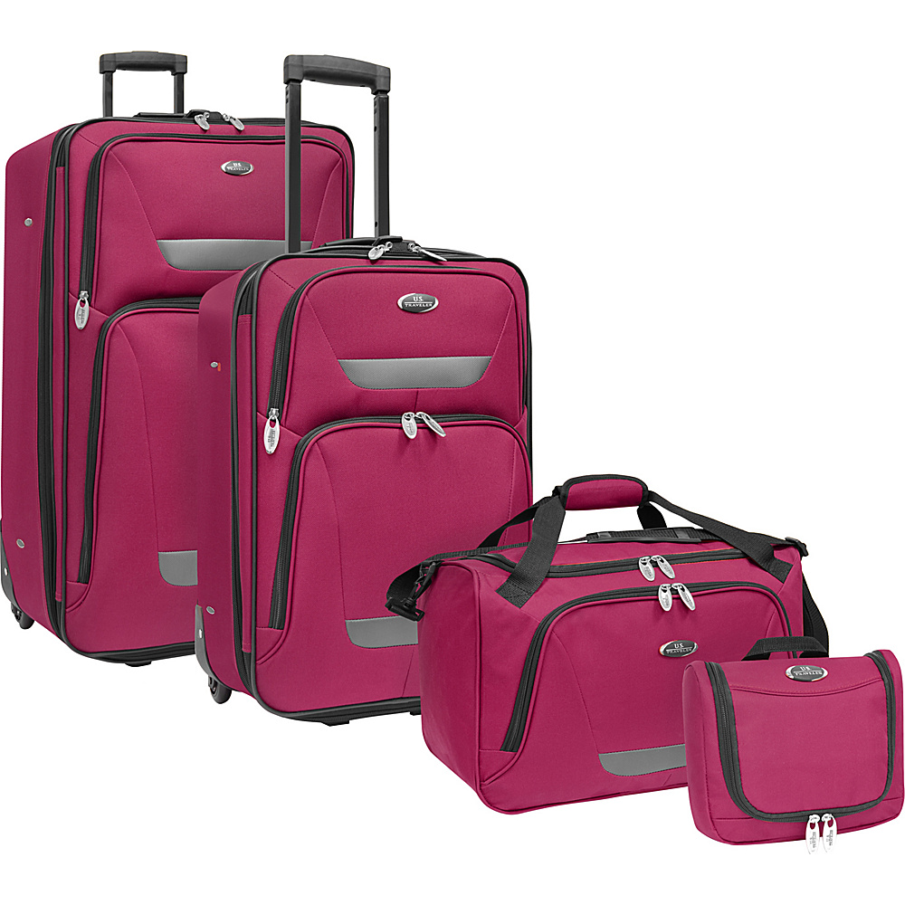 U.S. Traveler Westport 4-Piece Luggage Set Plum - U.S. Traveler Luggage Sets